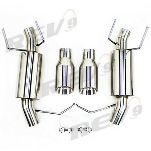 Rev9 Flowmaxx Exhaust Axle Back Exhaust For 11 14 Ford Mustang V6 2 5 Sports