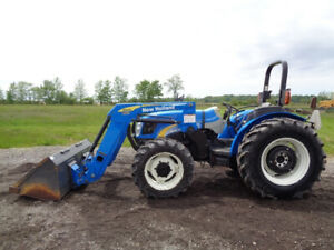 2008 New Holland T4030 Tractor 4wd Loader 76hp Diesel 1 Remote 3 158 Hours
