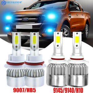 4x 9007 9145 Led Headlight Bulb For Ford Ranger 2001 2011 High Low Beam Foglight