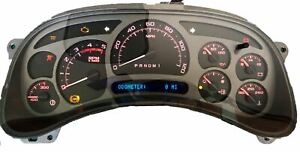 Red Led 06 07 Chevy Silverado Escalade Style Diesel Instrument Cluster 0 Miles