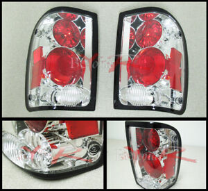 1993 2000 Ford Ranger Tyc Euro Chrome Rear Replacement Tail Light Lamps