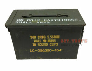 .50 CALIBER 5.56mm Military AMMO CAN M2A1 50CAL METAL AMMO CAN BOX VERY GOOD $23.98
