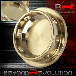 24k Gold Aluminum Engine Oil Fill Replacement Cap For Universal Mazda Thread