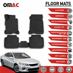 Floor Mats Liner 3d Molded Black Set Fits Honda Accord 2013 2017