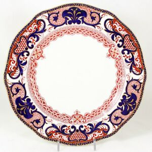 Antique Dinner Plate S Royal Crown Derby China 4651 Imari Red Cobalt Blue Gold