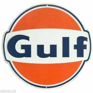 Gulf Oil Metal Signs 12 Can Man Cave Garage Home Decor Dad Gift