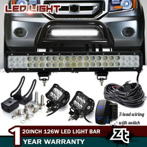 20 Led Light For 03 08 Honda Pilot 06 14 Ridgeline Bull Bar Bumper Grill Guard