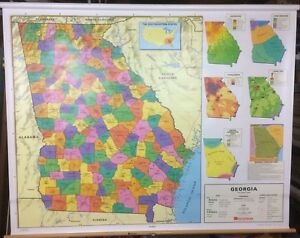 Nystrom Georgia State Pull Down Classroom Map 1 Map 1ps10
