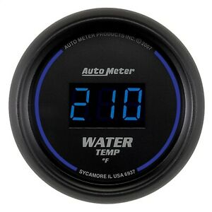Autometer 6937 Cobalt Digital Water Temperature Gauge 2 1 16 0 340 Deg F