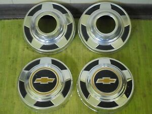 73 87 Chevy 4x4 Dog Dish 15 Hubcaps Set Of 4 K10 Pickup Truck 1 2 Ton 10 1 2