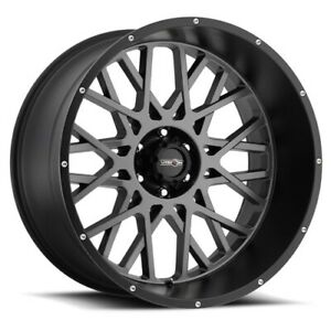 Set 4 Vision Off Road 412 20x9 5x127 10 Anthracite With Satin Black Lip