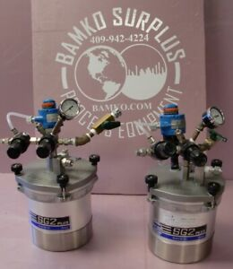 Binks Sg 2 Plus Steadi grip Rotary Agitator Air stirred 2 quart Pressure Cup