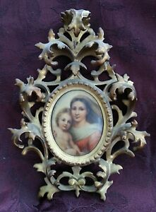 Porcelain Plaque In Ornate Frame