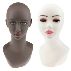 Perfeclan Female Mannequin Head Bust Wig Hat Jewelry Scarf Glasses Display