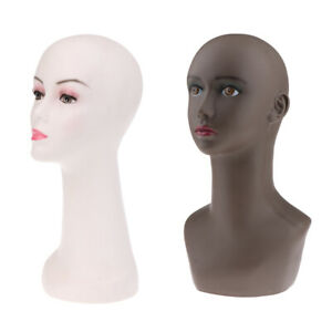 Perfeclan 2 Styles Pvc Female Mannequin Head Set For Hair Wigs Hats Display