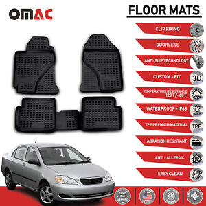 Floor Mats Liner 3d Molded Black Fits For Toyota Corolla 2003 2008