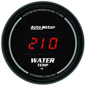 Autometer 6337 Sport comp Digital Water Temperature Gauge 2 1 16 0 340 Deg F