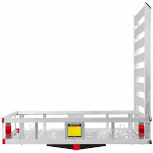 Aluminum Hitch Cargo Carrier Class Iii Iv Basket Ramp 500lb Capacity Wcc 500a