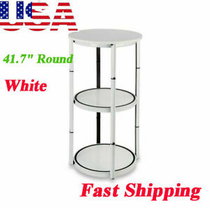 41 7 Round Portable Aluminum Spiral Counter Display Case With Shelves