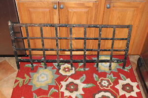 Antique Wrought Iron Garden Trellis Fence Architectural