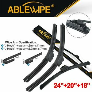 Ablewipe Fit For Bmw X5 2006 2000 Front Rear Windshield Wiper Blades Set Of 3