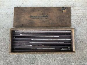 Brown Sharpe No 267 Inside Micrometer With Original Wooden Case