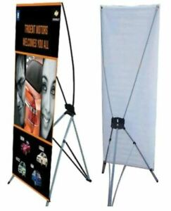 Full Color Custom Print Banner Kit With X banner Stand 24 X 63