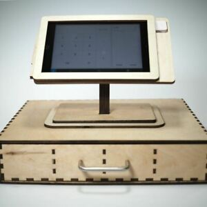 Square Pos Stand And Cash Box For Ipad Mini 1 2 3 And 4 Personalized Gift