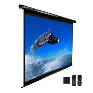 100 In Electric Projection Screen Projector Motorized Retractable Black Case