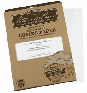 Rite In The Rain 8 1 2 X 11 Waterproof Laser Paper With Matte Finish White