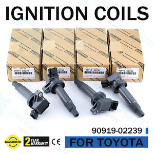 4pcs Genuine 90919 02239 Ignition Coils For Toyota Corolla Celica Chevy 1 8l Us