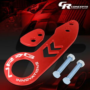 Nrg Universal Aluminum Car Auto Rear Bumper Towing Tow Hook Ring Kit Tow 110rd