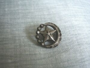 Moon Star 3 4 Metal Button Very Old