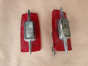 1966 66 Ford Fairlane Taillamp Taillight Lenses Nice Used