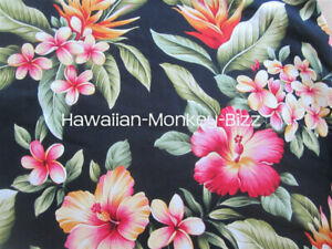 New Black Navy Tropical Flowers Hawaiian Car Seat Covers 2pc Denim
