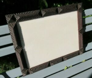 Amazing Large Antique Victorian Tramp Art Carved Multi Layer Wood Frame