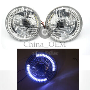 Universal Front Lights 7 White Led Headlights Lamps Bumper Driving Light