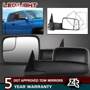 Left right Fit 1998 01 Dodge Ram 1500 2500 3500 Flipup Power heated Tow Mirrors