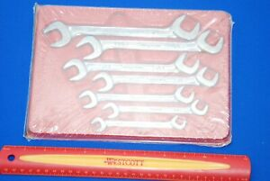 New Snap On 7 Piece Sae 4 Way Angle Head Open End Wrench Set Vs807b Ships Free