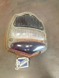 Antique Vintage 1920 S 1927 1928 Buick Car Stop Tail Light Lamp Porcelain