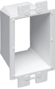 Arlington Be1 25 Electrical Outlet Box Extender 1 gang White 25 pack