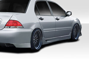 02 07 Mitsubishi Lancer Duraflex Trackstar Side Skirts 2 Pc 114665