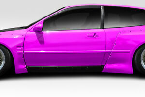 92 95 Honda Civic Hb Duraflex Tko Rbs Wide Body Side Skirts Rocker Panels 114903