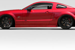 05 09 Ford Mustang Duraflex Blits Side Skirts 2 Pc 114655