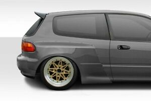 92 95 Honda Civic Hb Duraflex Tko Rbs Wide Body Rear Fender Flares 2 Pc 114888
