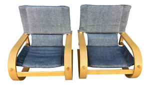 Awesome And Rare 60s 70s Mcm Stendig Low Bent Plywood Lounge Chairs A Pair