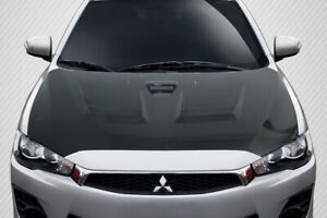 08 17 Mitsubishi Lancer Evolution 10 Carbon Fiber D Spec Hood 114384