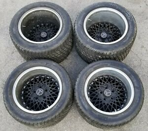 Detomaso Pantera Original And Very Rare Bbs Mesh Wheels 15x10f 15x13r 5x115