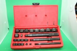 Snap On Tools 23 Pc Bushing Driver Set A157c Complete In Original Pb20 Case
