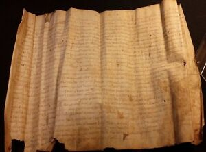 Very Old Medieval Latin Manuscript On Vellum 1368 Handschrift Auf Pergament